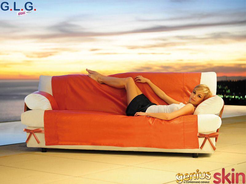 Copridivano per divano in pelle tural u fodera per divano - Copridivano per divano in pelle ...