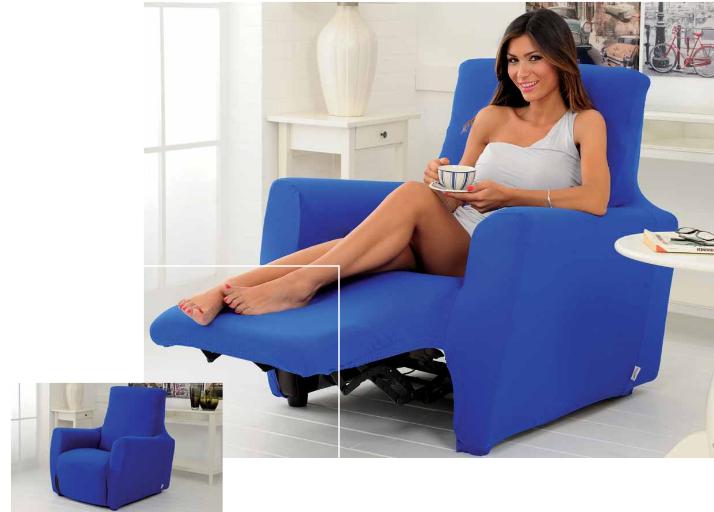 CopriPoltrona Genius Longue per poltrone con schienale reclinabile e poggiapiedi