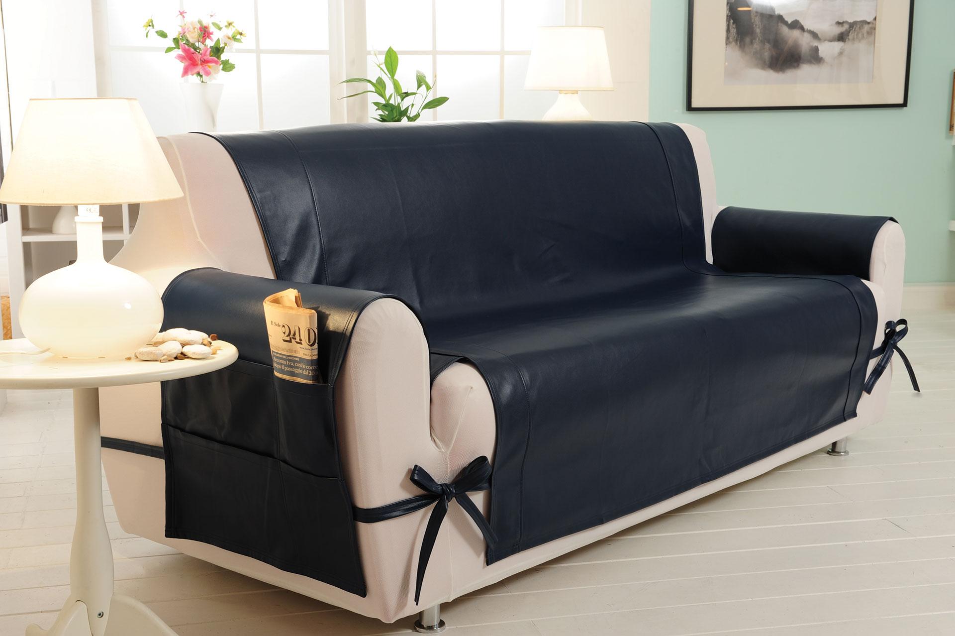 Copridivano 3 posti genius skin eco pelle g l g - Copridivano per divani reclinabili ...