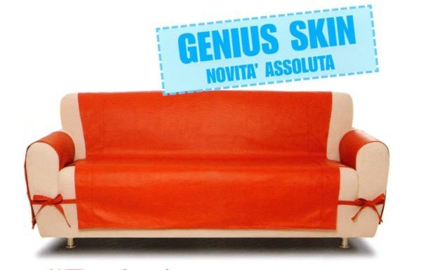 Copridivano 2 posti genius skin eco pelle g l g - Copridivano per divano in pelle ...