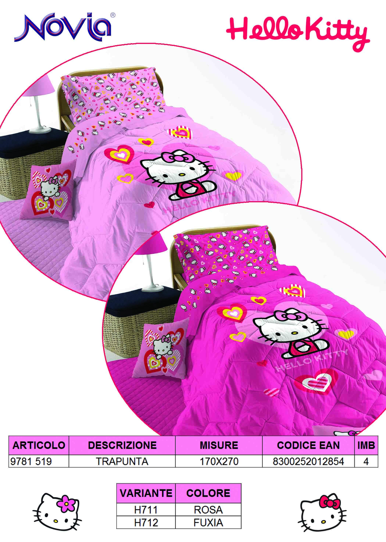 Copriletto Hello Kitty Singolo.Hello Kitty Trapunta G L G Store