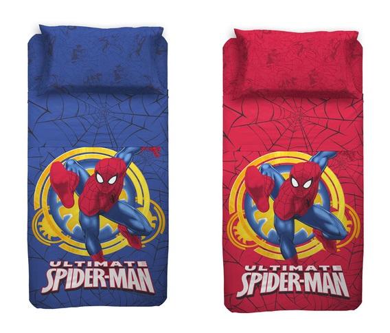 completo lenzuola spiderman