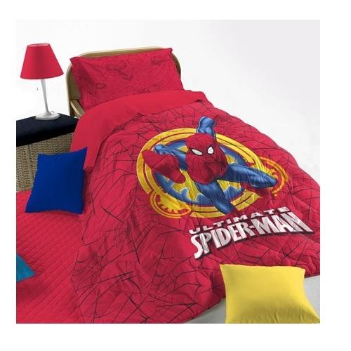 Copriletto Trapuntato Trapuntino Spiderman (Rosso o Blu)