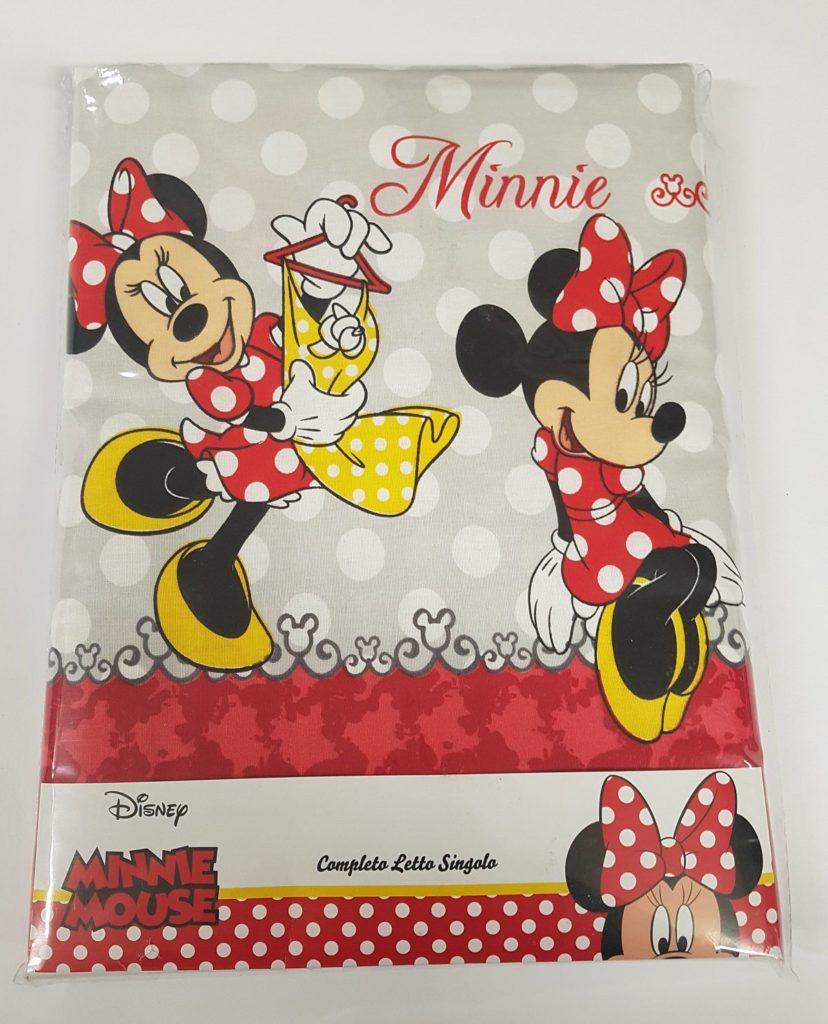 Completo lenzuola minnie per letto singolo g l g store - Completo letto minnie e topolino ...