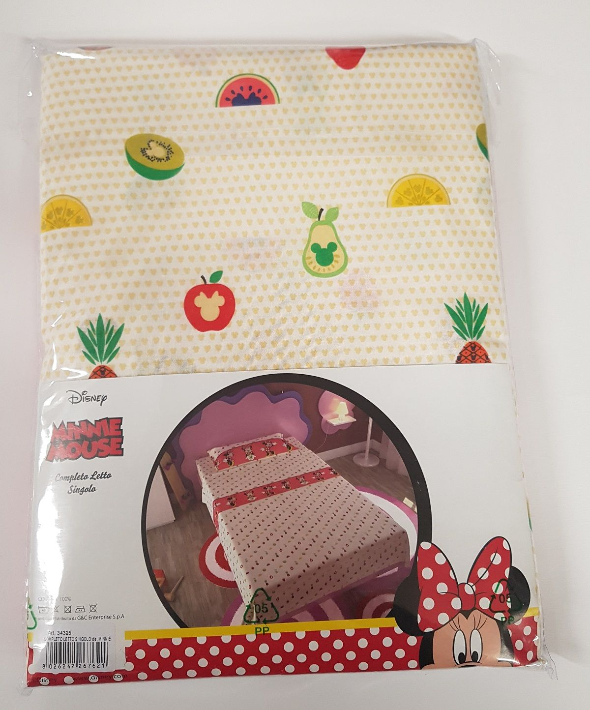 Completo Lenzuola Minnie Mouse fruit