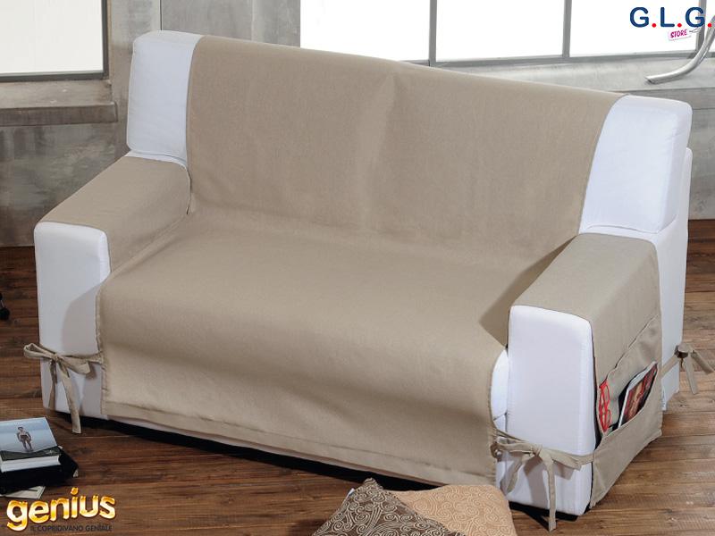 Copridivano genius class salva divano in puro cotone g l g store - Genius copridivano ...