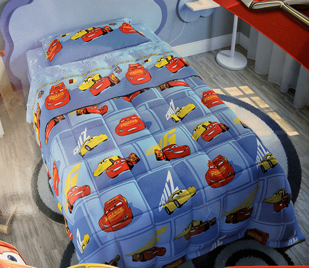 Trapunta Piumone Disney Pixar Cars3 imbottita letto singolo