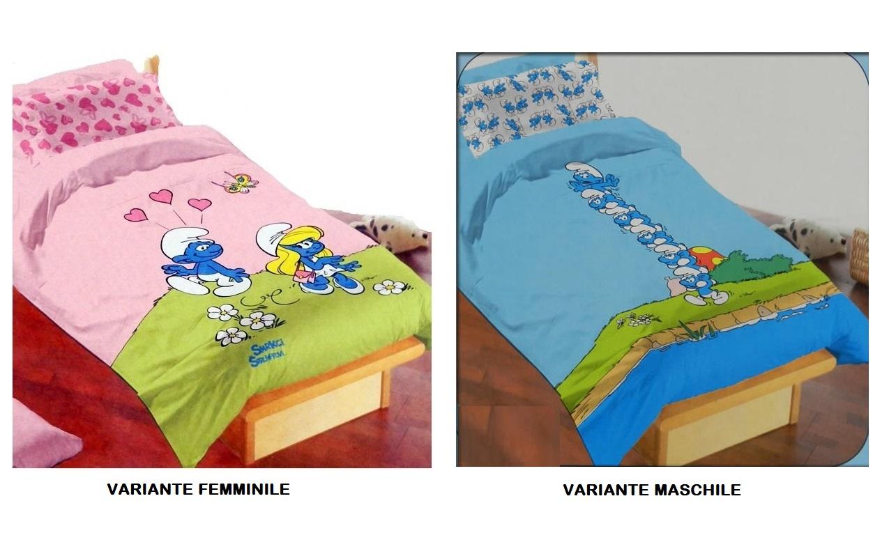 Trapunta Singola Per Bambini.Copriletto Puffi G Lg Store