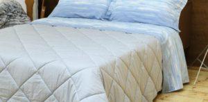 Lenzuola Tramonti con trapunta colored biancaluna