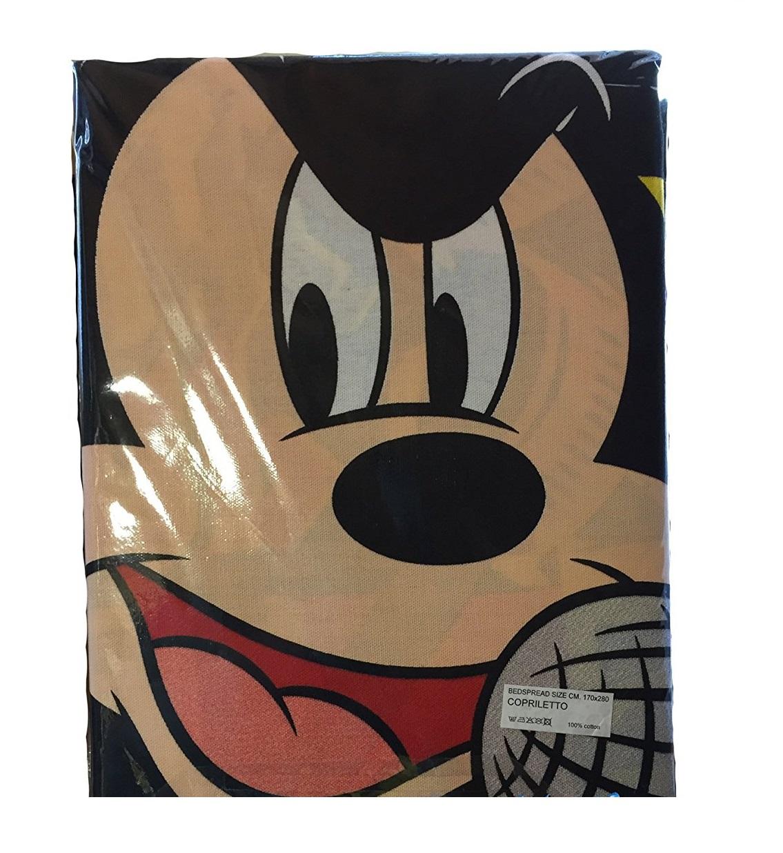 Copriletto Topolino Mickey Rock Disney Estivo G L G Store