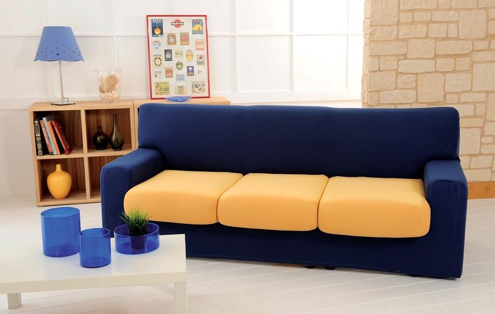 Copridivani 3 posti gallery of copridivano beige posti - Divano color prugna ...