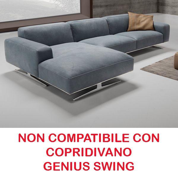 Copridivano per divano in pelle con chaise longue latest copridivano angolare bikini happidea - Divano klaus prezzo ...