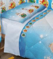 Completo Lenzuola Culla Miss Terry Nursery Biancaluna Lein