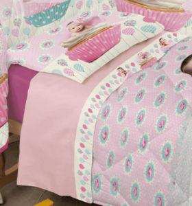 Completo Lenzuola Culla Miss Terry Nursery Biancaluna Muffin