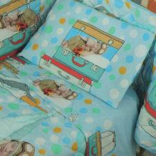 Completo Lenzuola Culla Biancaluna Miss Terry Nursery Asor