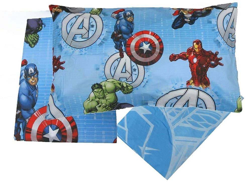 Completo Lenzuola Avengers Marvel