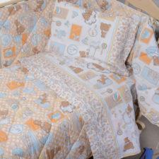 Lenzuola Culla Biancaluna Nursery Dalilo (Cotone e Flanella)