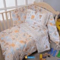 Trapunta Culla Nursery Biancaluna Dalilo con Paracolpi