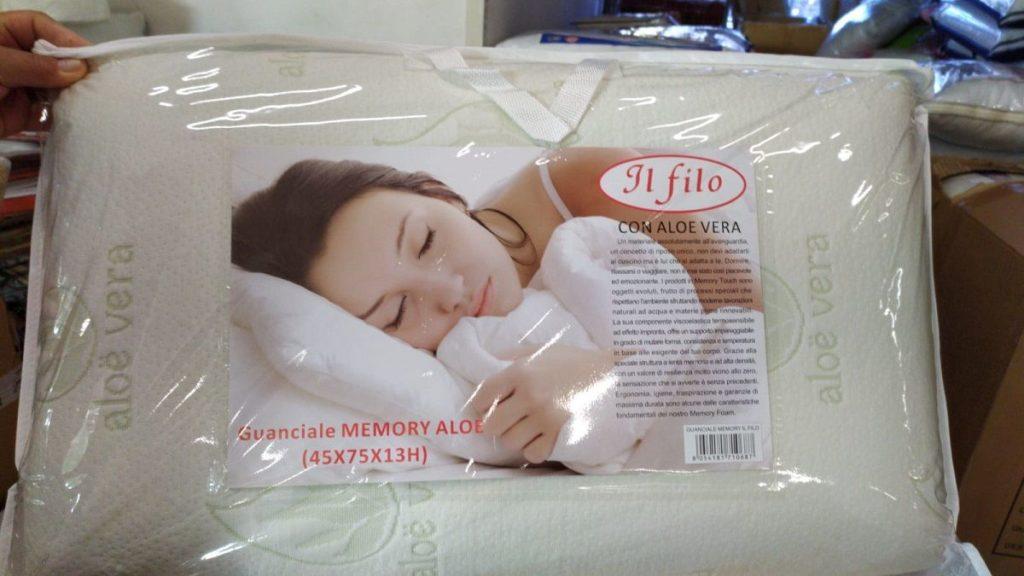 Guanciale Memory Foam Aloe Vera Cervicale