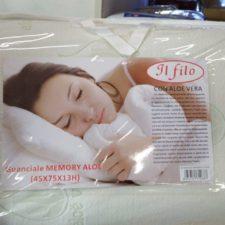 Guanciale Memory Foam con Aloe Vera