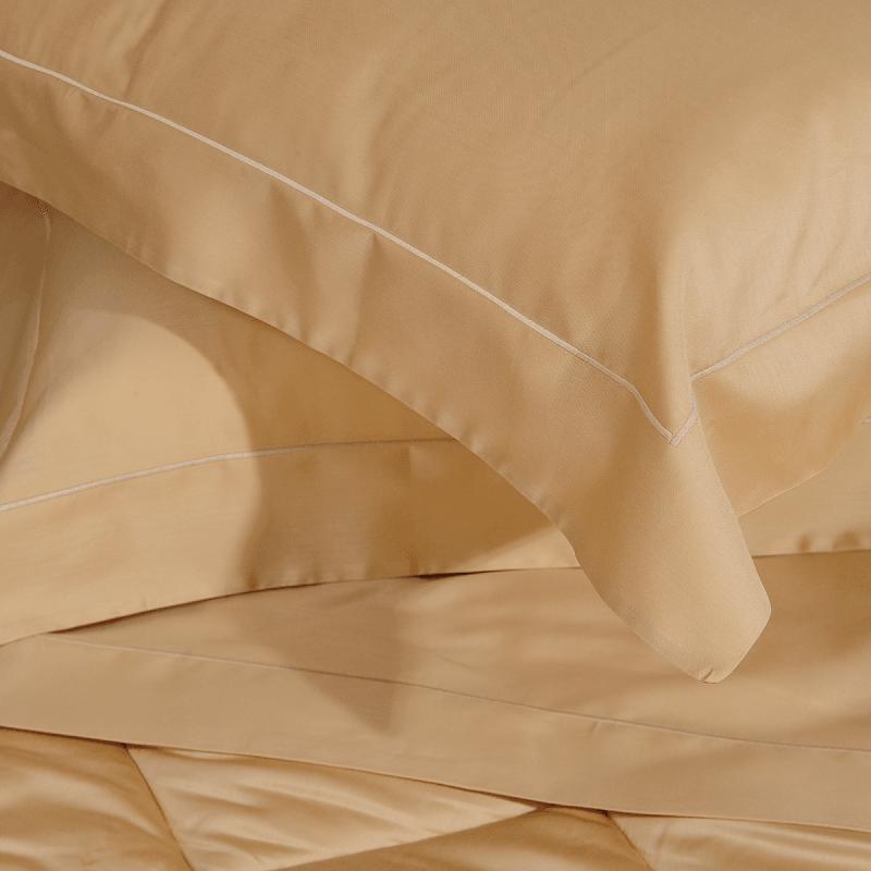 Completo Lenzuola Biancauluna Quadro in raso di cotone