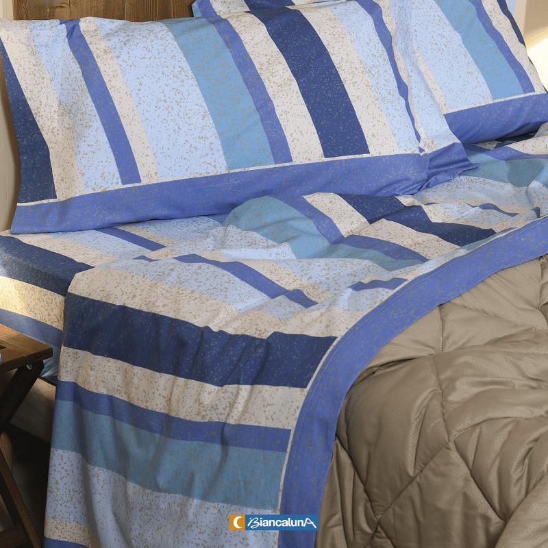 Lenzuola Biancaluna Tramonti Marla azzurro 2200