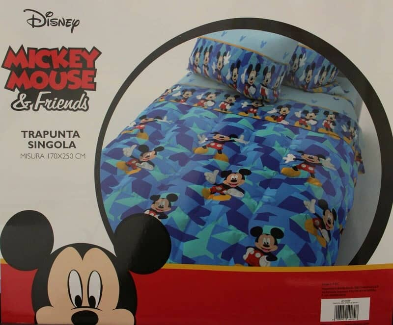 Trapunta Piumone Topolino Disney Invernale