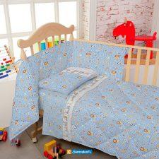 Lenzuola Culla Biancaluna Nursery Karina (Flanella o Cotone)