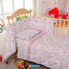 Lenzuola Culla Biancaluna Nursery Kiki (Flanella o Cotone)